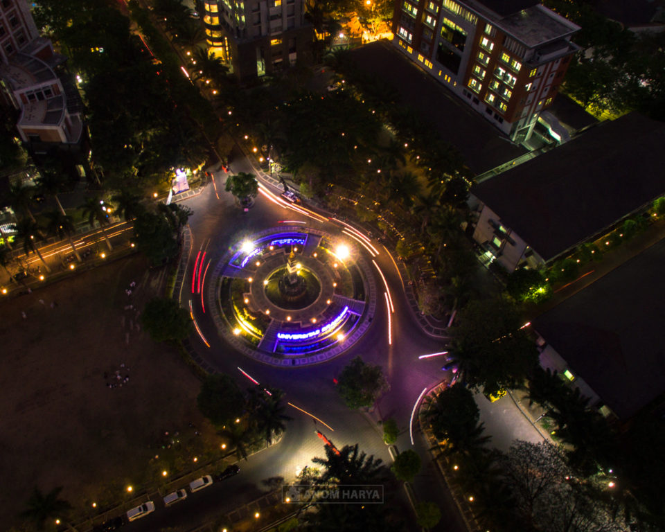 Universitas Brawijaya Drone Long Exposure