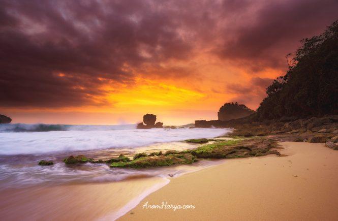 Sunset from Watu Lepek Beach