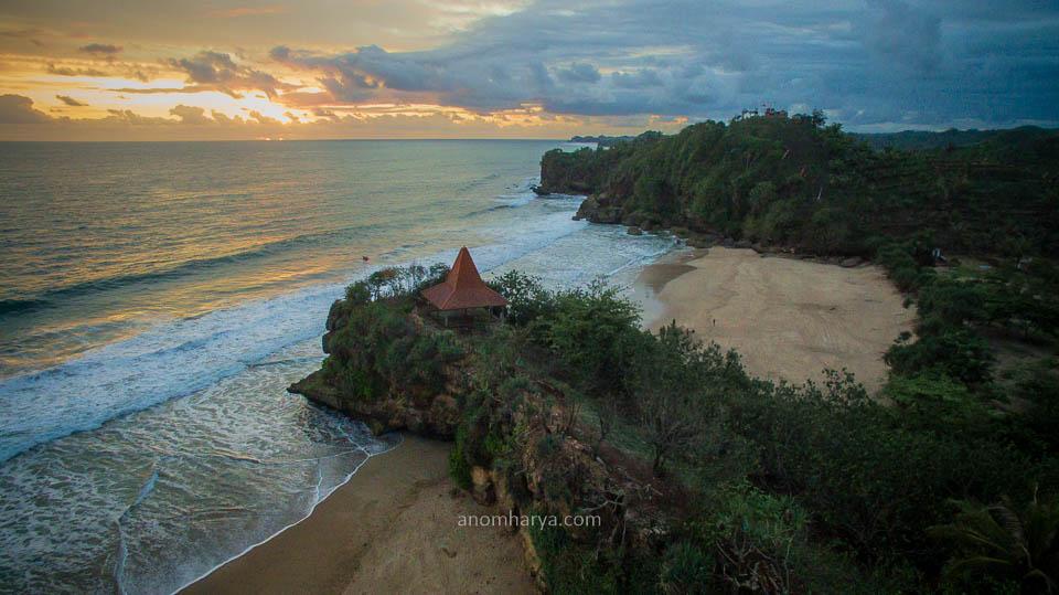 Aerial Pantai Ngantep