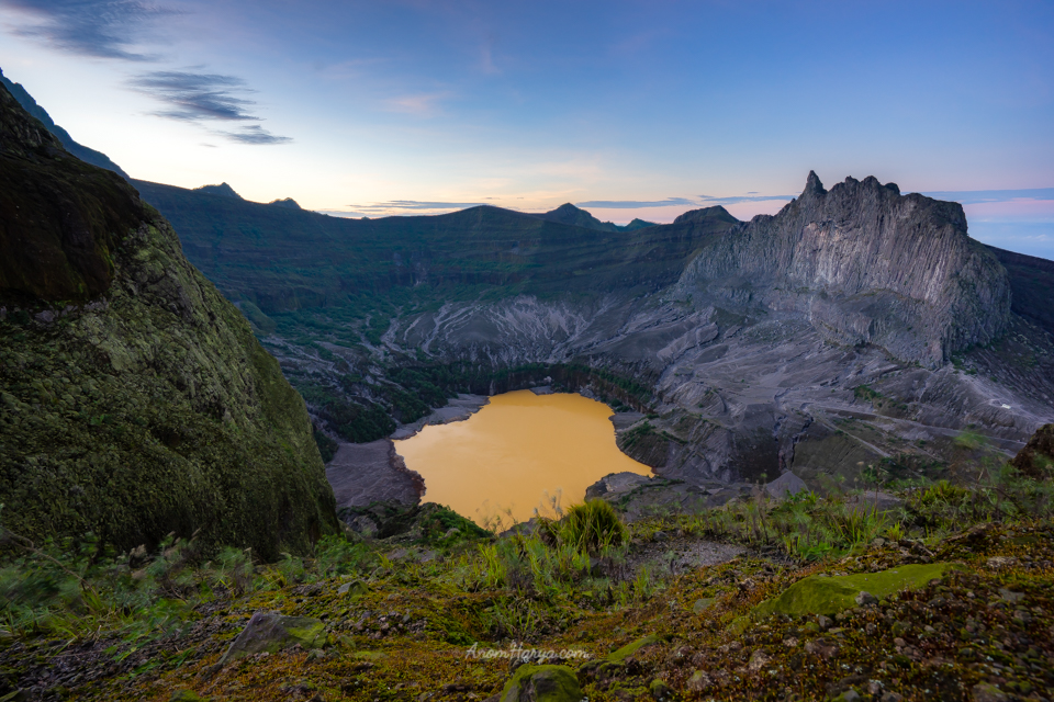 View of Mount Kelud Crater
