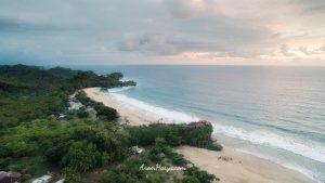 Aerial Photo Pantai Nganteb Malang