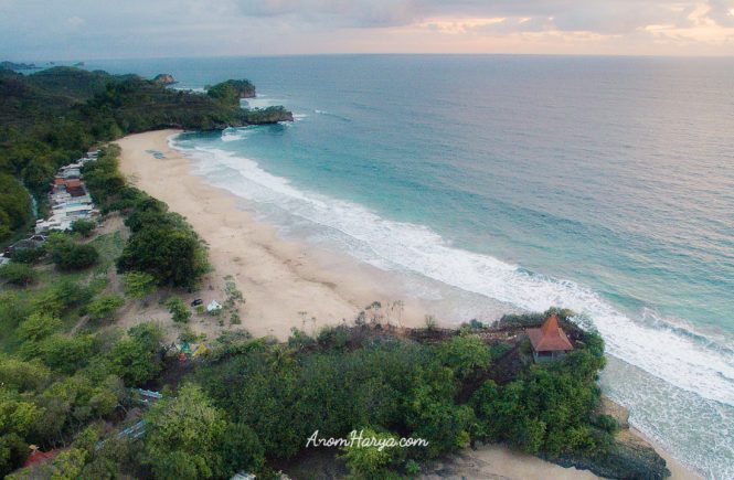 Aerial Photo Pantai Nganteb Malang