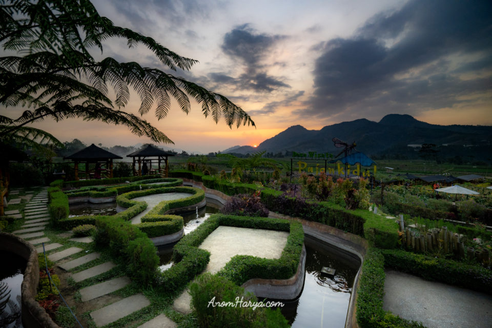 Sunset di Cafe Sawah Pujon Kidul